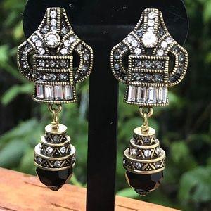 Heidi Daus Master Clasp dangle earrings NWT